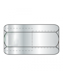 "1/2-13 to 3/8-16 x 1 1/4"" (5/8"" AF) Reducer Coupling Nuts / Steel / Zinc (Quantity: 150 pcs)"