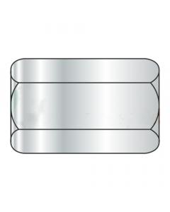 "5/8-11 X 2 1/8"" (13/16"" AF) Hex Coupling Nuts / Steel / Zinc (Quantity: 100 pcs)"