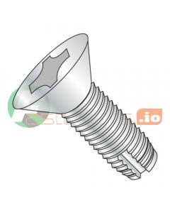 """10-32 x 3/4"""" Type 1 Thread Cutting Screws / Phillips / Flat Head / Steel / Zinc (Quantity: 7,000 pcs)"""