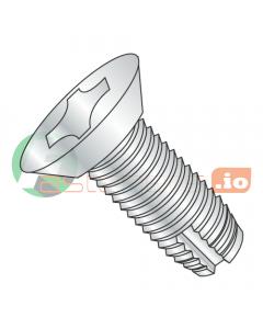 """4-40 x 1/4"""" Type 1 Thread Cutting Screws / Phillips / Flat Undercut Head / Steel / Zinc (Quantity: 10,000 pcs)"""