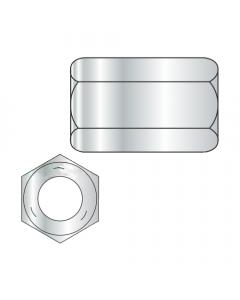 """1-8 X 2 3/4"""" (1 3/8"""" AF) Hex Coupling Nuts / Grade 5 / Zinc (Quantity: 40 pcs)"""
