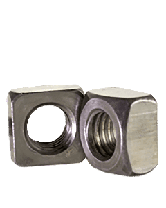 "1 1/8""-7 Square Nuts Grade 2 Steel / Plain (Quantity: 75)"