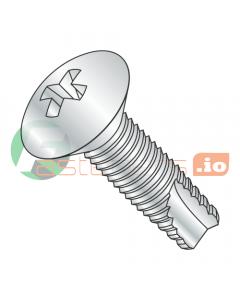 """8-32 x 1"""" Type 23 Thread Cutting Screws / Phillips / Oval Head / Steel / Zinc (Quantity: 7,000 pcs)"""