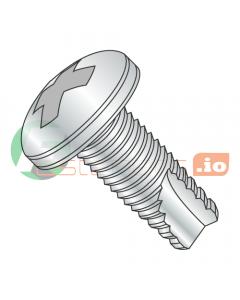 "2-56 x 1/4"" Type 23 Thread Cutting Screws / Phillips / Pan Head / Steel / Zinc (Quantity: 10,000 pcs)"