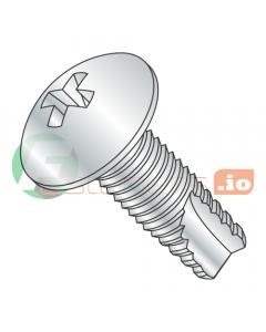"""10-32 x 1/2"""" Type 23 Thread Cutting Screws / Phillips / Truss Head / Steel / Zinc (Quantity: 8,000 pcs)"""