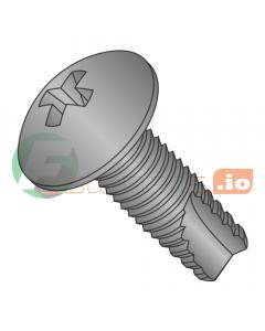 """10-24 x 1/2"""" Type 23 Thread Cutting Screws / Phillips / Truss Head / Steel / Black Zinc (Quantity: 8,000 pcs)"""