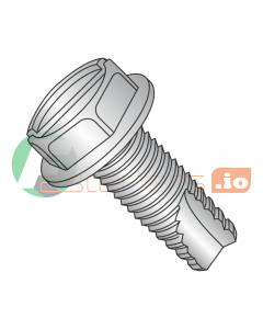 """6-32 x 1/4"""" Type 23 Thread Cutting Screws / Slotted / Hex Washer Head / 18-8 Stainless Steel (Quantity: 5,000 pcs)"""