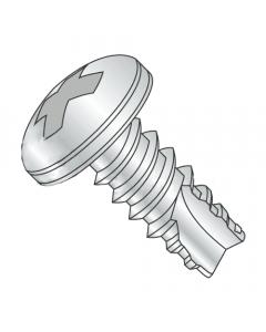 "#2 x 3/16"" Type 25 Thread Cutting Screws / Phillips / Pan Head / Steel / Zinc (Quantity: 10,000 pcs)"