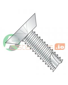 """#4 x 1/4"""" Type 25 Thread Cutting Screws / Phillips / Flat Undercut Head / Steel / Zinc (Quantity: 10,000 pcs)"""