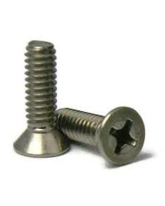 M6-1.00 x 28mm Machine Screws / Phillips / Flat Head / 18-8 Stainless Steel (Quantity: 1500 pcs)