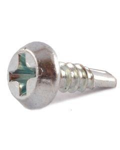 "#6 x 7/16"" Self-Drilling Screws / Phillips / Pan Framing Head / Steel / Zinc Plating / #2 Point (Quantity: 15000 pcs)"