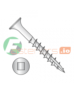 """#8 x 1"""" Deck Screws / Square / Bugle Head / Type 17 Point / 18-8 Stainless Steel (Quantity: 2,000 pcs)"""