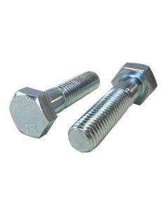 M12-1.75 x 90mm Hex Head Cap Screws, Steel Metric Class 10.9, Zinc Plating (Quantity: 25 pcs) - Coarse Thread Metric, Partially Threaded, 90mm Metric, Thread M12 Metric