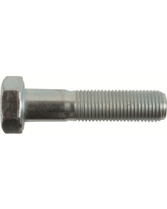 M12-1.5 x 75mm Hex Cap Screws, Metric Class 8.8 Zinc Plated Steel (Quantity: 25) Fine Thread (UNF) Partially Threaded