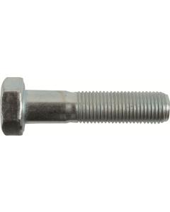 M24-2.0 x 80mm Hex Head Cap Screws, Steel Metric Class 8.8, Zinc Plating (Quantity: 10 pcs) - Fine Thread Metric, Partially Threaded, 80mm Metric, Thread M24 Metric