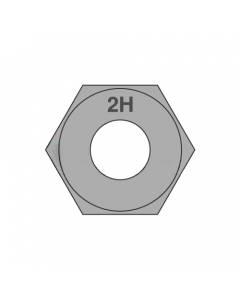 1 1/2-8 Heavy Hex Nuts / A194 Grade 2H / Plain (Quantity: 30 pcs)
