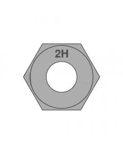 1 1/8-8 Heavy Hex Nuts / A194 Grade 2H / Plain (Quantity: 75 pcs)