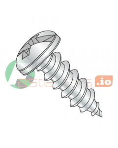 "#4 x 1/8"" Type AB Self-Tapping Screws / Combo / Pan Head / Steel / Zinc (Quantity: 10,000 pcs)"