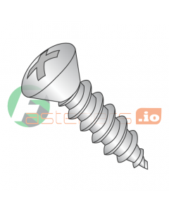 """#4 x 3/8"""" Type AB Self-Tapping Screws / Phillips / Oval Head / 18-8 Stainless Steel (Quantity: 5,000 pcs)"""