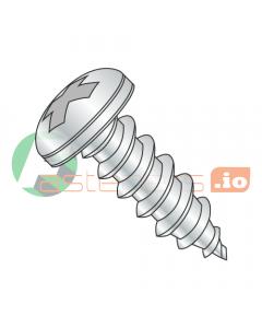 "#2 x 3/16"" Type AB Self-Tapping Screws / Phillips / Pan Head / Steel / Zinc (Quantity: 10,000 pcs)"