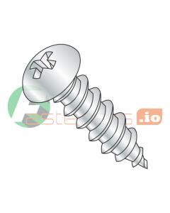 "#2 x 1/2"" Type AB Self-Tapping Screws / Phillips / Round Head / Steel / Zinc (Quantity: 10,000 pcs)"
