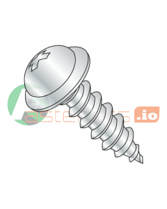 """#8 x 3/8"""" Type AB Self-Tapping Screws / Phillips / Round Washer Head / Steel / Zinc (Quantity: 10,000 pcs)"""