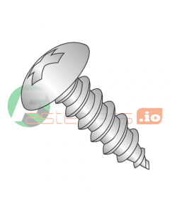 """#4 x 1/4"""" Type AB Self-Tapping Screws / Phillips / Truss Head / 18-8 Stainless Steel (Quantity: 5,000 pcs)"""