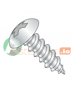 "#4 x 1/4"" Type AB Self-Tapping Screws / Phillips / Truss Head / Steel / Zinc (Quantity: 10,000 pcs)"