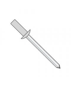 """1/8"""" x .12""""-.18"""" (#43) Closed End Blind Rivets / Aluminum Body / Steel Mandrel / Barrel Length: .377"""" (Quantity: 10,000 pcs)"""