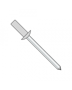 """3/16"""" x .02""""-.12"""" (#62) Closed End Blind Rivets / Aluminum Body / Steel Mandrel / Max Barrel Length: .345"""" (Quantity: 5,000 pcs)"""