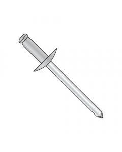 "1/8"" x .25""-.37"" (#46) Large Flange Blind Rivets / Aluminum Body / Steel Mandrel / Barrel Length: .525"" (Quantity: 6,000 pcs)"