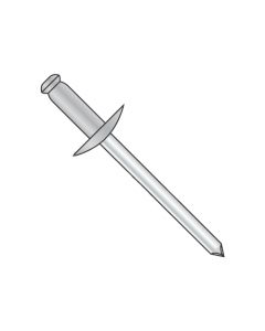 "5/32"" x .50""-.62"" (#510) Large Flange Blind Rivets / Aluminum Body / Steel Mandrel / Barrel Length: .800"" (Quantity: 3,000 pcs)"