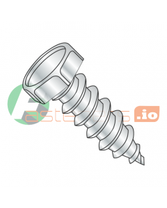 """#6 x 1/2"""" Type A Self-Tapping Screws / Unslotted / Hex Head / Steel / Zinc (Quantity: 10,000 pcs)"""