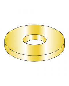"""AN970-4 / 1/4"""" Mil-Spec Flat Washers / Steel / Cad Yellow (Quantity: 1,000 pcs)"""