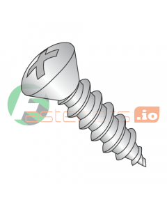 """#6 x 1"""" Type A Self-Tapping Screws / Phillips / Oval Head / 18-8 Stainless Steel (Quantity: 5,000 pcs)"""