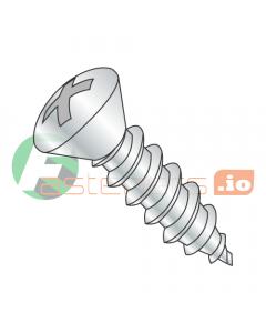 "#6 x 1"" Type A Self-Tapping Screws / Phillips / Oval Head / Steel / Zinc (Quantity: 10,000 pcs)"