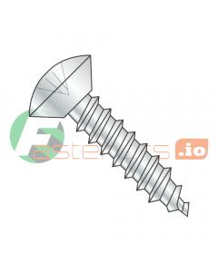 "#6 x 3/8"" Type A Self-Tapping Screws / Phillips / Oval Undercut Head / Steel / Zinc (Quantity: 10,000 pcs)"