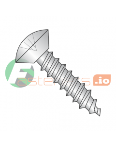 """#12 x 1/2"""" Type A Self-Tapping Screws / Phillips / Oval Undercut Head / 18-8 Stainless Steel (Quantity: 2,000 pcs)"""