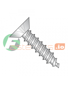 """#2 x 1/4"""" Type A Self-Tapping Screws / Phillips / Flat Undercut Head / 18-8 Stainless Steel (Quantity: 5,000 pcs)"""