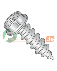 """#6 x 1"""" Type A Self-Tapping Screws / Phillips / Hex Washer Head / 18-8 Stainless Steel (Quantity: 5,000 pcs)"""