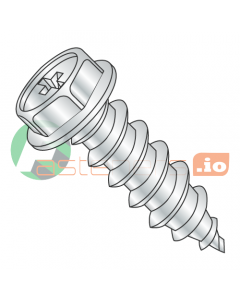 """#6 x 1"""" Type A Self-Tapping Screws / Phillips / Hex Washer Head / Steel / Zinc (Quantity: 10,000 pcs)"""