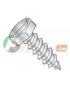 """#6 x 3/4"""" Type A Self-Tapping Screws / Slotted / Hex Head / Steel / Zinc (Quantity: 10,000 pcs)"""