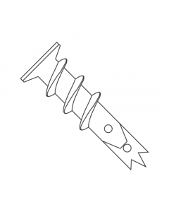 """#6 Screw-In Wallboard Anchors / Nylon / For Use with #6 Screws / 1 5/16"""" Long (Quantity: 100 pcs)"""