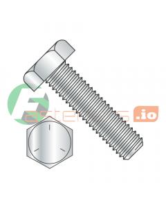 """1-8 x 3 1/2"""" Hex Tap Bolts / Grade 5 / Zinc (Quantity: 5 pcs) Fully Threaded"""