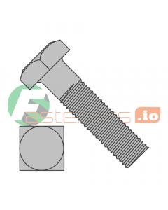 "1/4-20 x 1 1/4"" Square Head Machine Bolts / Steel / Plain (Quantity: 1,000 pcs)"