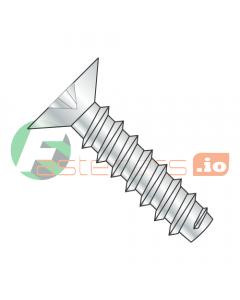 """#4 x 1/4"""" Type B Self-Tapping Screws / Phillips / Flat 100 Head / Steel / Zinc (Quantity: 10,000 pcs)"""