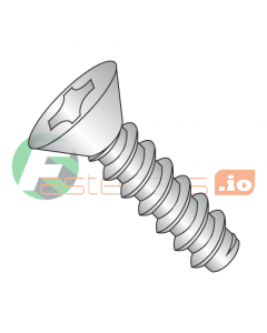"""#2 x 1/4"""" Type B Self-Tapping Screws / Phillips / Flat Head / 18-8 Stainless Steel (Quantity: 5,000 pcs)"""