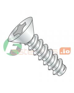 """#2 x 1/4"""" Type B Self-Tapping Screws / Phillips / Flat Head / Steel / Zinc (Quantity: 10,000 pcs)"""