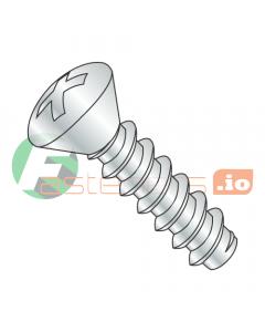 """#8 x 1/2"""" Type B Self-Tapping Screws / Phillips / Oval Head / Steel / Zinc (Quantity: 10,000 pcs)"""