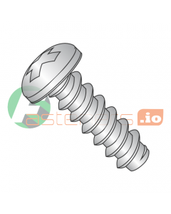 """#2 x 3/16"""" Type B Self-Tapping Screws / Phillips / Pan Head / 18-8 Stainless Steel (Quantity: 5,000 pcs)"""